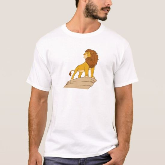 Lion King adult Simba standing proud on rock cliff T-Shirt