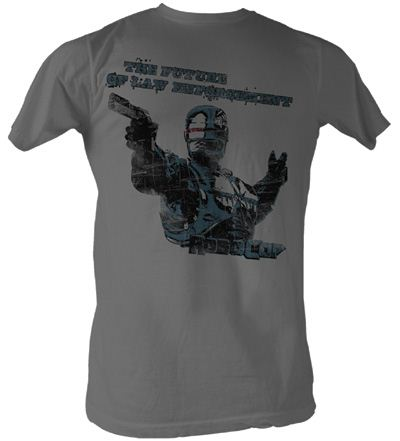 Robocop T-Shirt - Future Of Law Adult Charcoal Tee Shirt