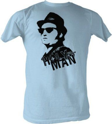 The Blues Brothers Vector Holy Man Jake Light Blue Adult T-shirt