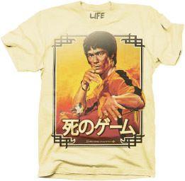 Bruce Lee Vintage Pose Asian Characters Vanilla Mens T-shirt