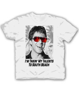 Scarface Talents To South Beach White Adult T-shirt