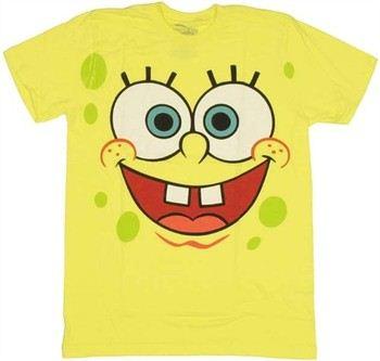 Spongebob Squarepants Happy Face T-Shirt Sheer