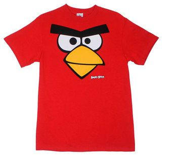 Red Faced - Angry Birds T-shirt