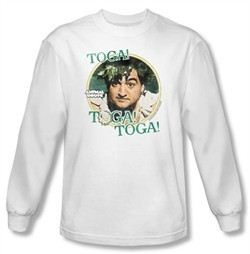 Animal House Long Sleeve T-shirt Movie Bluto Toga White Tee Shirt