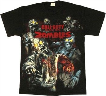 Call of Duty: Black Ops: Zombies Attacking T-Shirt