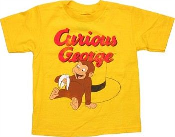 Curious George Sit Yellow Hat Banana Toddler T-Shirt