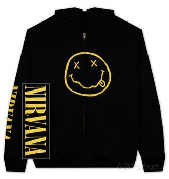 Zip Hoodie: Nirvana - Smile