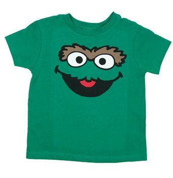 Oscar Face Version 2 - Sesame Street Juvenile T-shirt