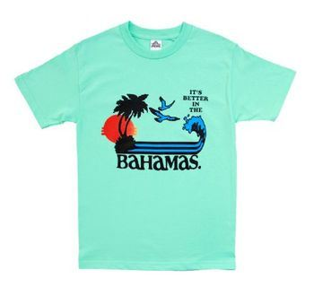 Step Brothers It's Better In The Bahamas Adult Turquoise Green T-Shirt