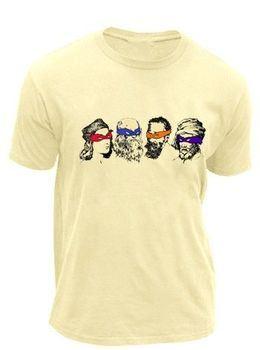 Teenage Mutant Ninja Turtles Real Artists Adult Cream T-Shirt