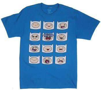 More Finn Faces - Adventure Time T-shirt