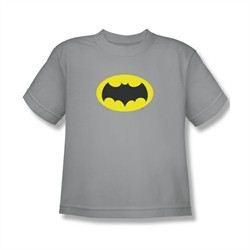 Classic Batman Shirt Kids Logo Silver T-Shirt