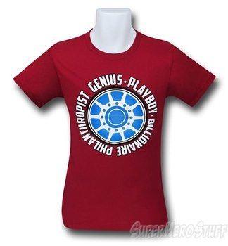 Iron Man Genius Playboy 30 Single T-Shirt