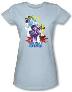 Miami Vice Juniors T-shirt Tubbs Freeze Light Blue Tee Shirt