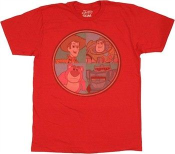 Disney Toy Story Four Toys in Circle T-Shirt Sheer