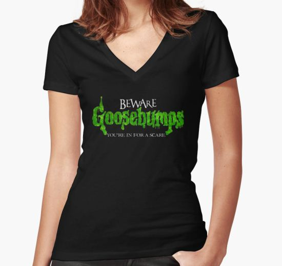 'Goosebumps' Women's Fitted V-Neck T-Shirt by ConnorMcKee T-Shirt