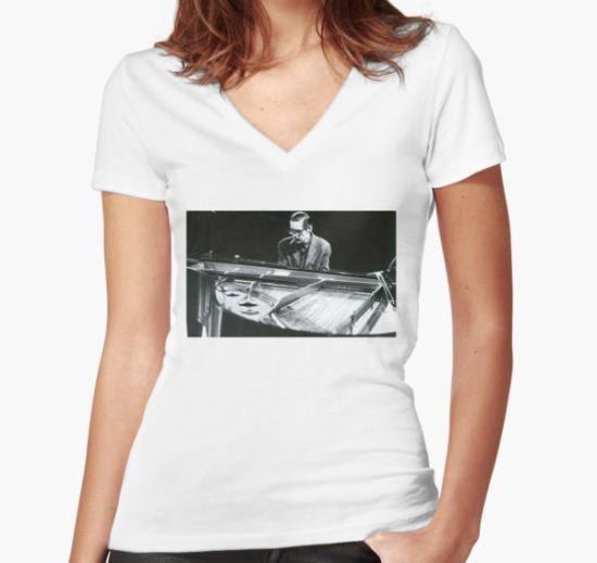 Bill Evans Women's Fitted V-Neck T-Shirt by maxilanhoenig T-Shirt