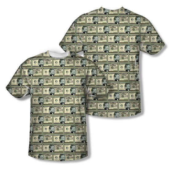 Richie Rich Shirt Millions Sublimation Shirt Front/Back Print
