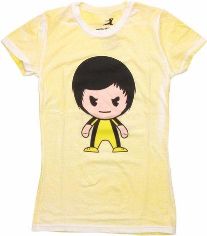 Bruce Lee Toon Distressed Baby Tee