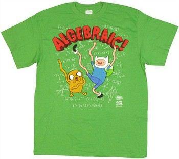 Adventure Time with Finn and Jake Algebraic T-Shirt