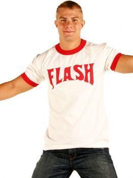 Flash Gordon Logo Red Ringer White T-shirt
