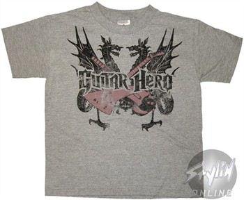 Guitar Hero Dragons Cross Juvenile T-Shirt