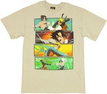 Naruto Sasuke Shippuden Battle Frames T-Shirt