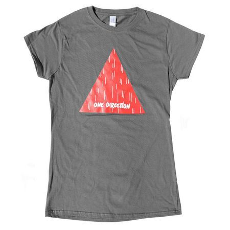One Direction: One Direction Triangle Grey Skinny T-Shirt - Small