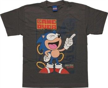 Sega Sonic the Hedgehog Game Over Laugh Youth T-Shirt