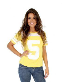 Teenage Mutant Ninja Turtles April O' Neil 5 Yellow Costume T-shirt