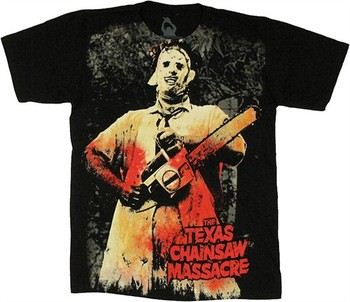 Texas Chainsaw Massacre Bloody Leatherface Full T-Shirt