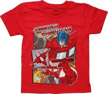 Transformers Comic Panels Juvenile T-Shirt