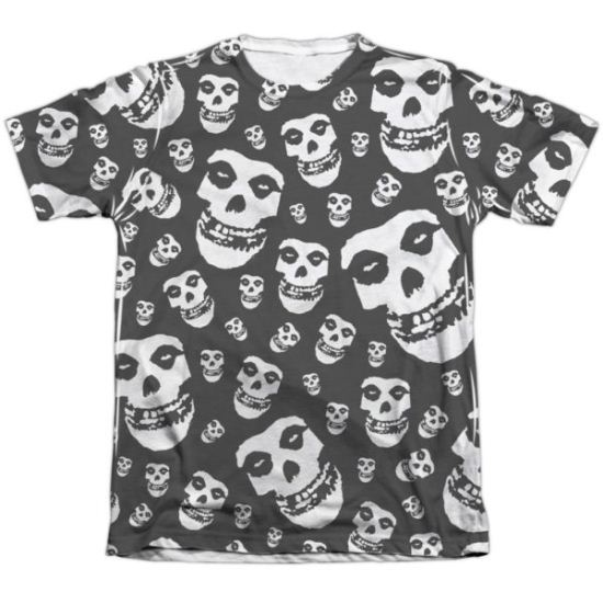 Misfits Shirt Fiends All Over Poly/Cotton Sublimation T-Shirt Front/Back Print