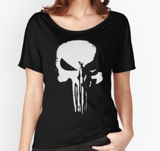 The Punisher Women's Relaxed Fit T-Shirt by matrixman18 T-Shirt