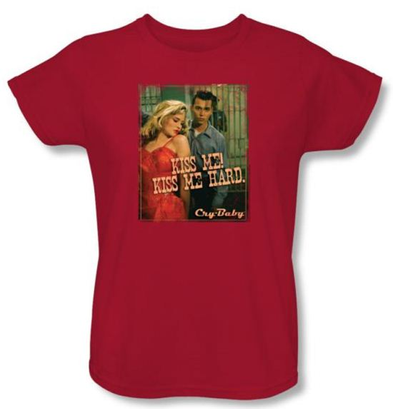 Cry Baby Ladies T-shirt Movie Kiss Me Red Tee Shirt