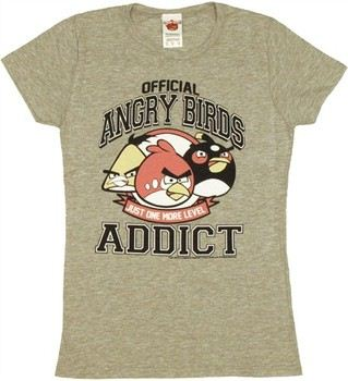 Angry Birds Official Addict Baby Doll Tee