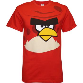 Red Bird Angry Birds Face T-Shirt
