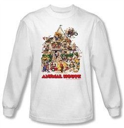Animal House Long Sleeve T-shirt Movie Poster Art White Tee Shirt