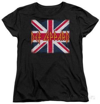 Womans: Def Leppard - Union Jack