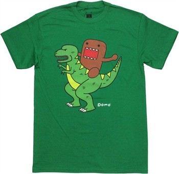 Domo-Kun Riding Dinosaur T-Shirt