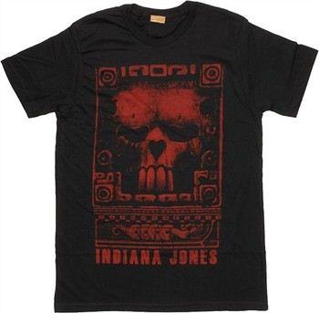 Indiana Jones Skull Carving T-Shirt Sheer