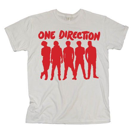 One Direction: One Direction Silhouette White T-Shirt
