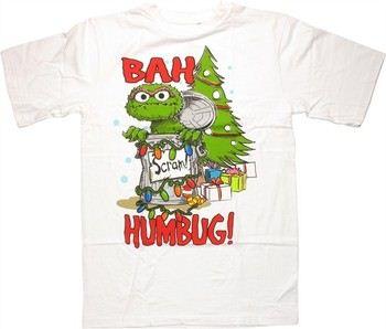 Sesame Street Oscar the Grouch Bah Humbug T-Shirt