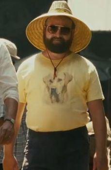 Hangover 2 Alan Lab Dog Yellow T-shirt