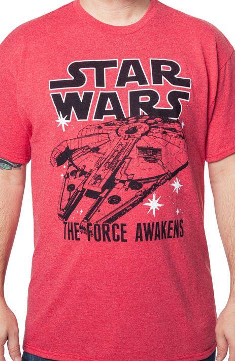 Star Wars Force Awakens Millennium Falcon T-Shirt