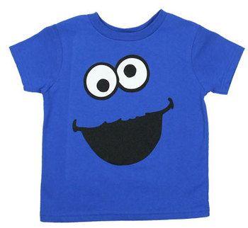 Cookie Monster Face Version 2 - Sesame Street Juvenile T-shirt
