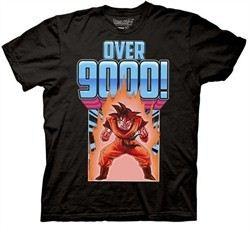 Dragonball Z Shirt Over 9000 Adult Black Tee T-Shirt