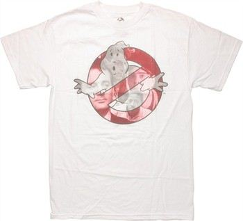 Ghostbusters Group Faces In Logo T-Shirt