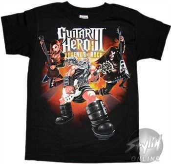 Guitar Hero God of Rock Youth T-Shirt