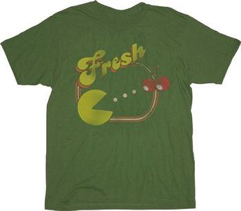 Pac-Man Fresh Military Green T-shirt